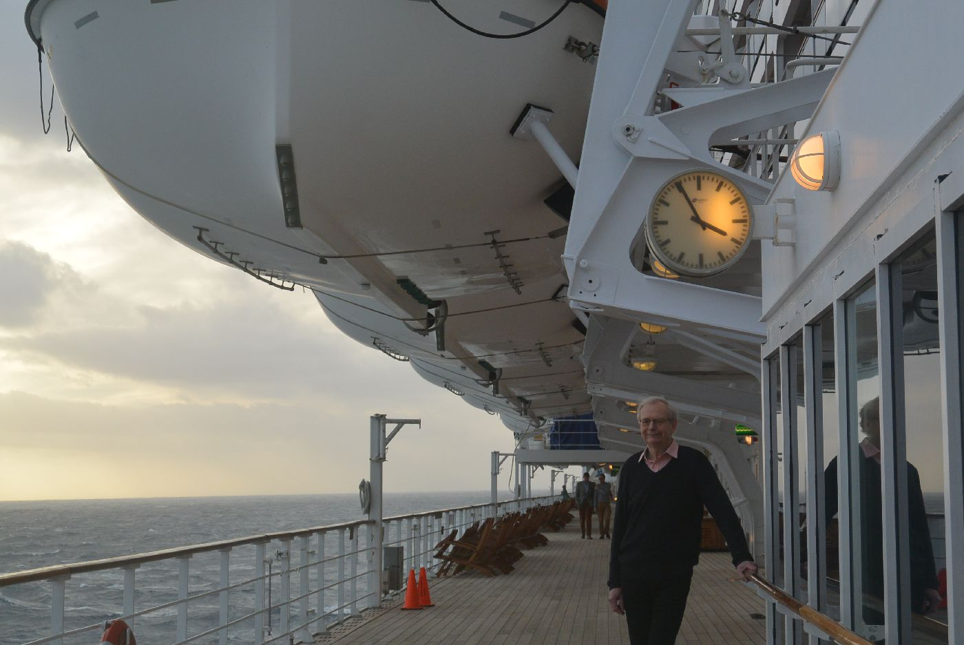 Errol Lincoln Uys on Atlantic Crosssing, Queen Mary 2, January 2015.