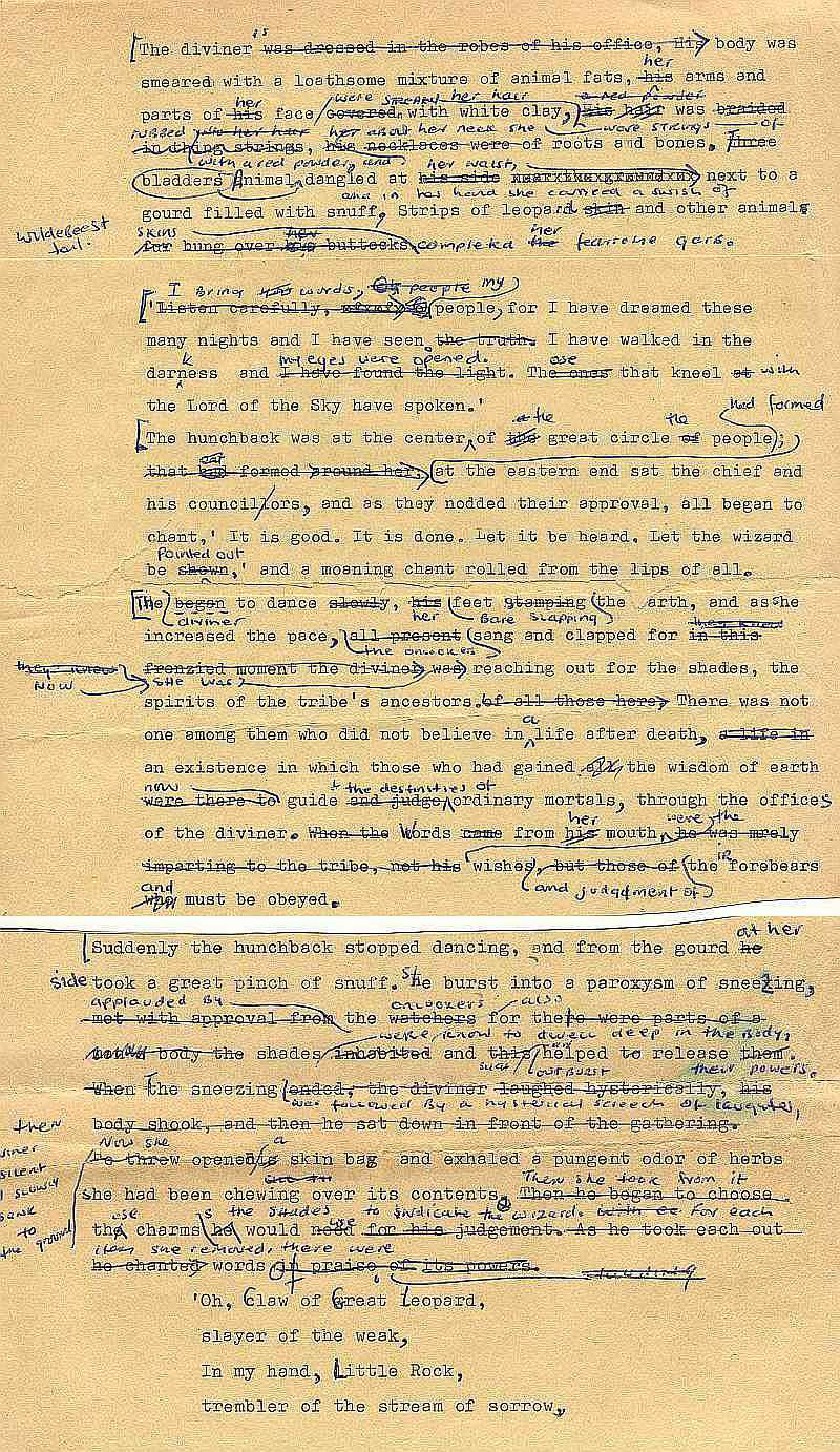 Errol Lincoln Uys typed rough draft for Mfecane pages (2)