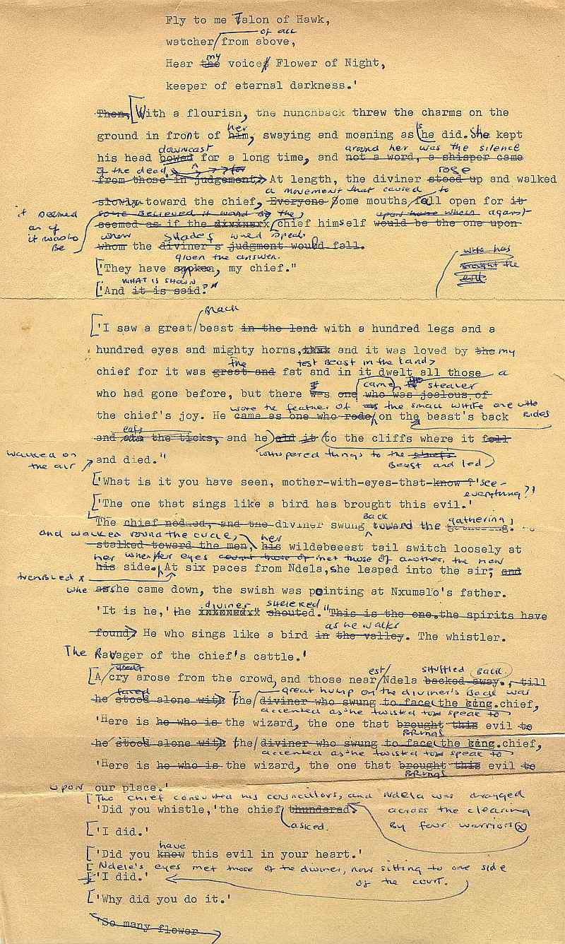 Errol Lincoln Uys typed rough draft for Mfecane pages (3)