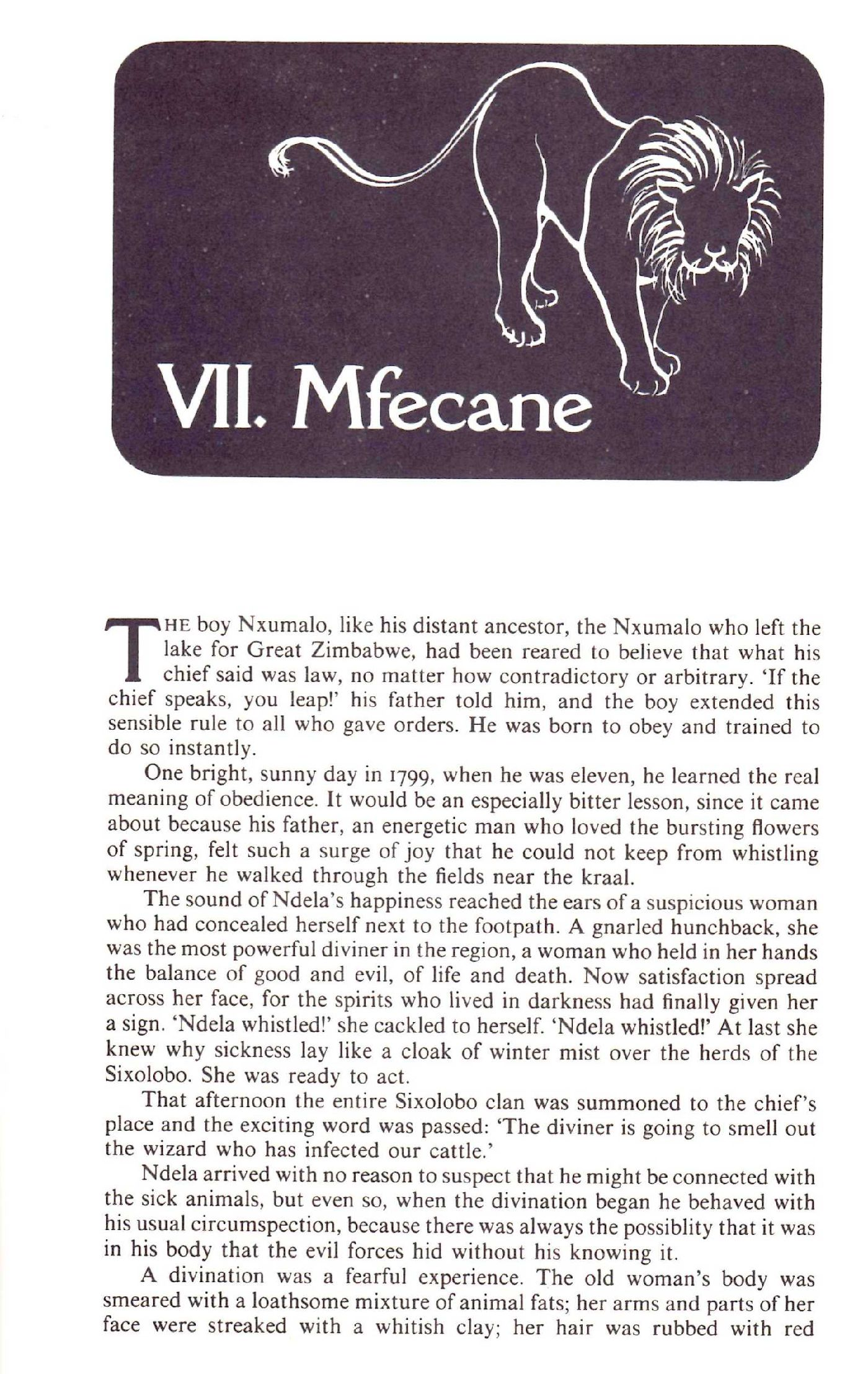 James A. Michener | The Covenant | Mfecane chapter