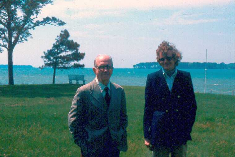 James A. Michener and Errol Lincoln Uys - St. Michaels, Maryland