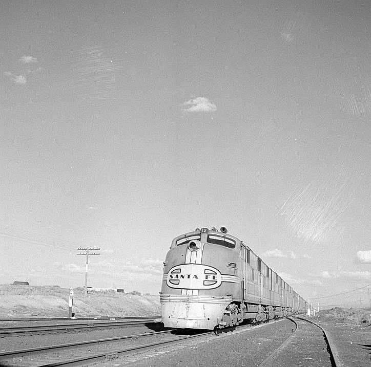 TThoreau, New Mexico. The diesel streamliner