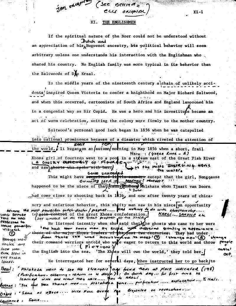 James Michener - Covenant Draft 1