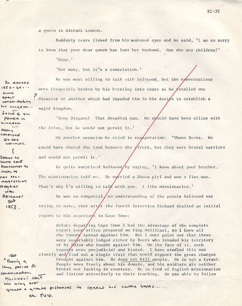 James Michener's Covenant - Michener Draft Saltwood 3